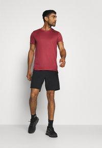 adidas Performance - HEAT.RDY TRAINING SLIM SHORT SLEEVE TEE - Print T-shirt - legend red - 1