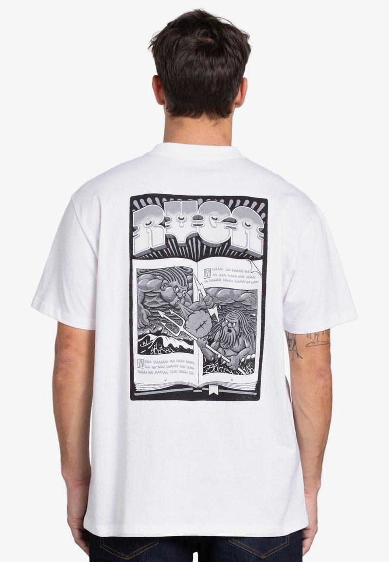 RVCA - BATTLE - Print T-shirt - white