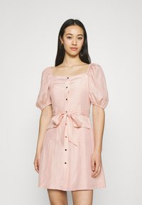 NA-KD - PUFF SLEVE TAILORED DRESS - Cocktail dress / Party dress - pink - 0