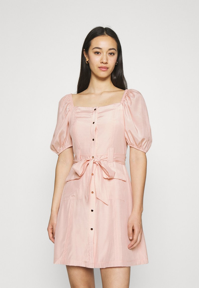 NA-KD - PUFF SLEVE TAILORED DRESS - Cocktail dress / Party dress - pink