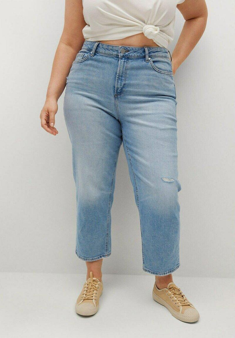Violeta by Mango - Straight leg jeans - hellblau