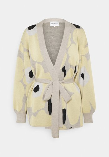 UNEKSUVA UNIKKO CARDIGAN - Cardigan - beige/light yellow/black