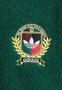 adidas Originals - COLLEGIATE CREST TEDDY TRACK JACKET - Light jacket - green/maroon/conavy - 5