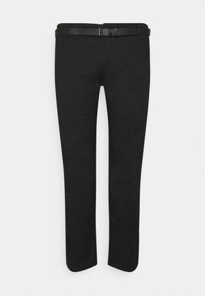 MEN'S WITH BELT - Chino kalhoty - black