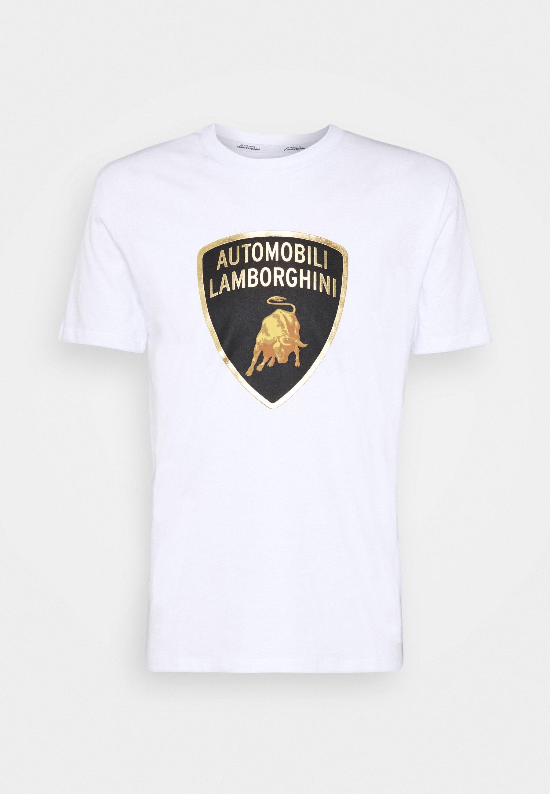 Lamborghini T-shirt Print - Navy Blue