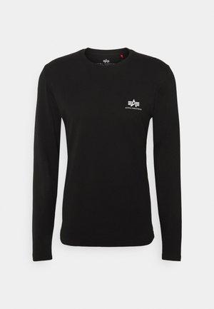 BACK PRINT HEAVY - Long sleeved top - black