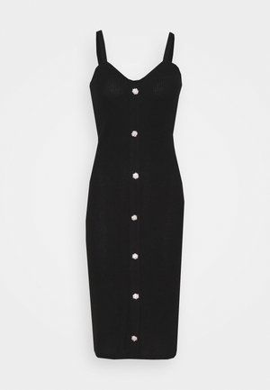 VMTIA BUTTON CALF DRESS - Strikket kjole - black