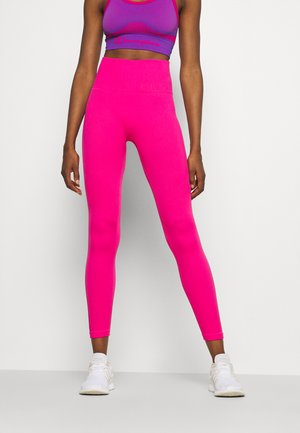 HIGH WAISTED SEAMLESS  - Tights - beetroot