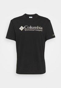 Columbia - BASIC LOGO SHORT SLEEVE - Printtipaita - black - 5