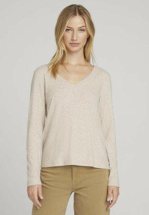 Long sleeved top - cozy beige melange