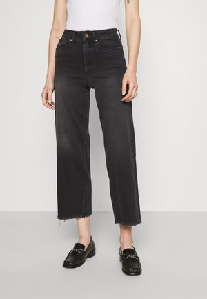 ONLMADISON WIDE CROP - Džíny Relaxed Fit - black