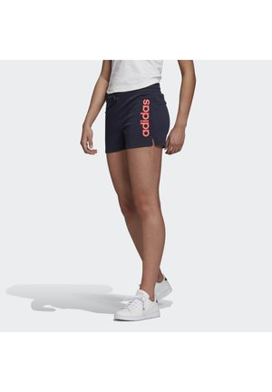 ESSENTIALS LINEAR LOGO SHORTS - Pantalón corto de deporte - blue