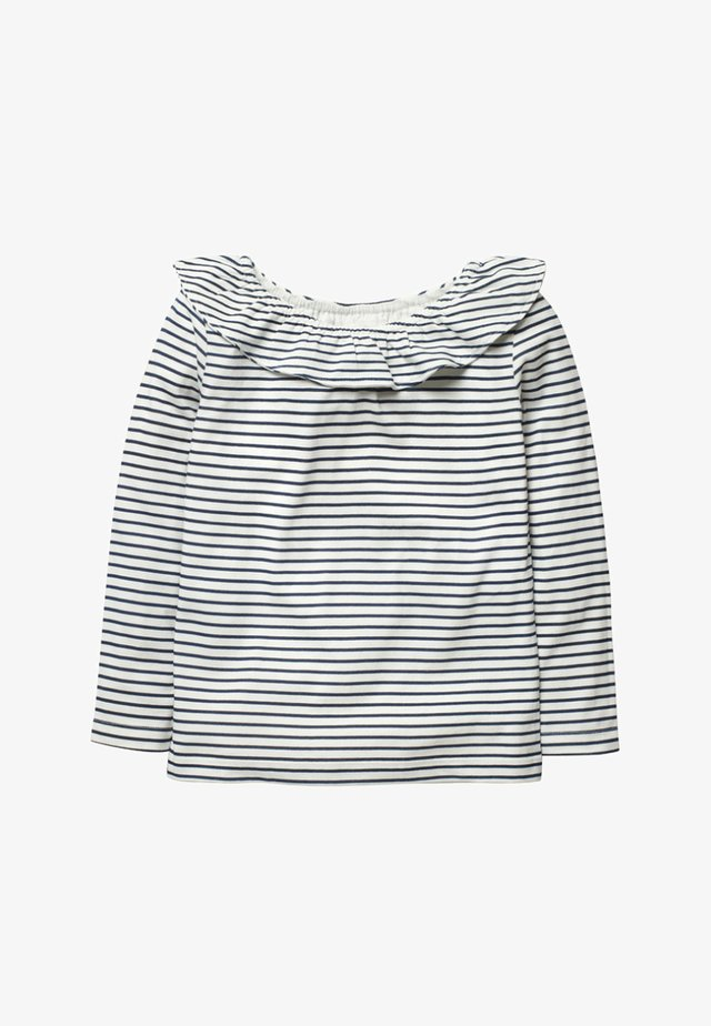 Long sleeved top - natural white/dark blue
