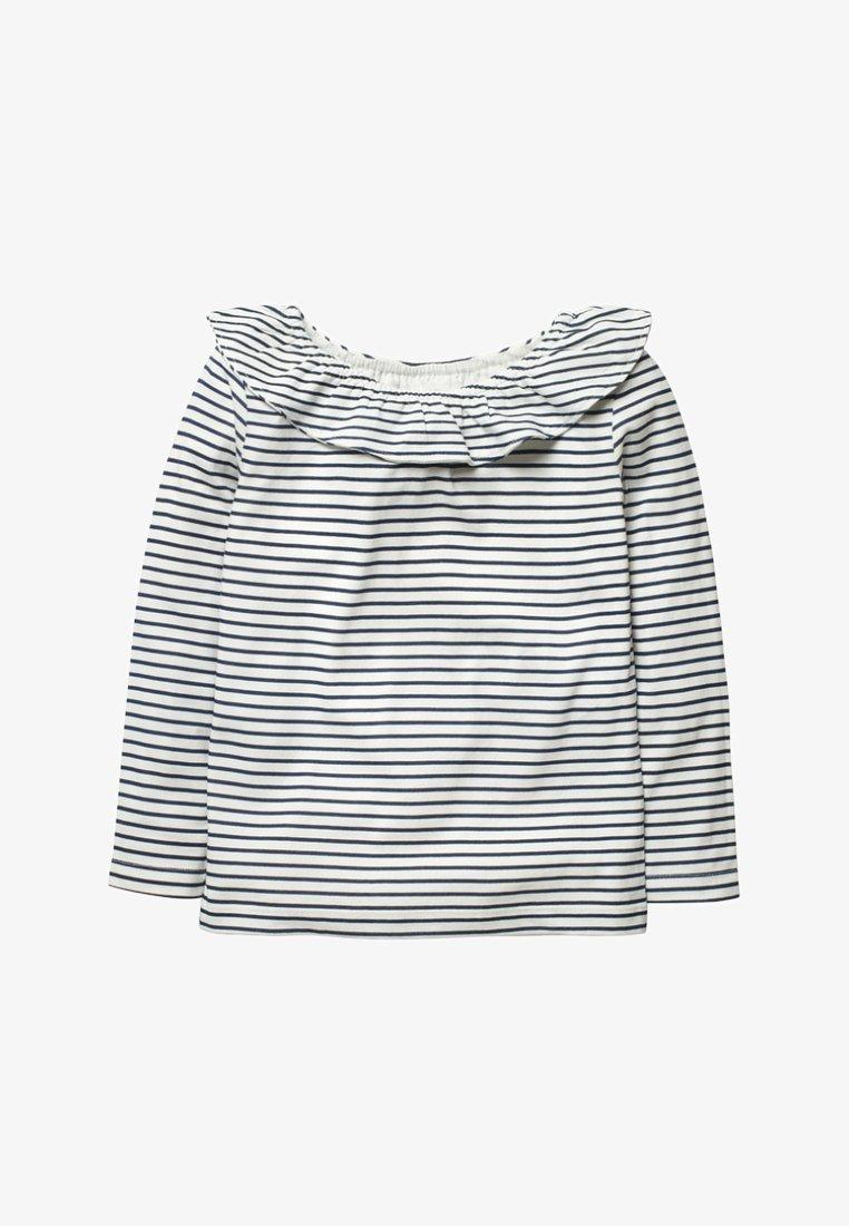 Boden - Long sleeved top - natural white/dark blue