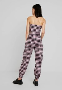 The Ragged Priest - PINK GINGHAM COMBAT TROUSER WITH CUFFED HEM - Kalhoty - pink - 2
