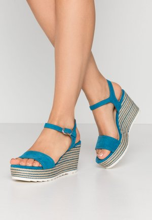 High heeled sandals - monarch blue