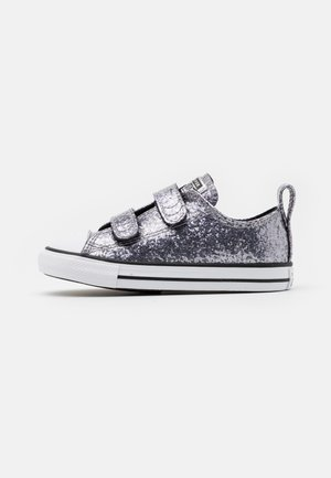 CHUCK TAYLOR ALL STAR GLITTER - Tenisky - black/bright coral/white