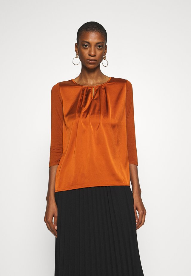 Blouse - terracotta