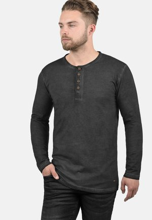 RUNDHALSSHIRT TIMUR - Long sleeved top - black