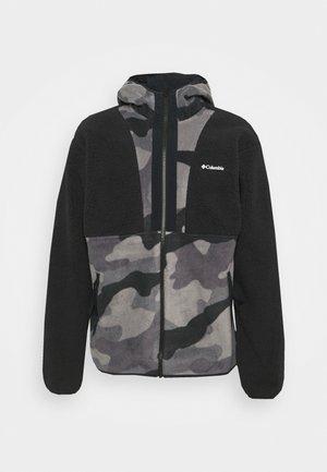 BACKBOWL™ SHERPA FULL ZIP HOODIE - Fleecová bunda - black