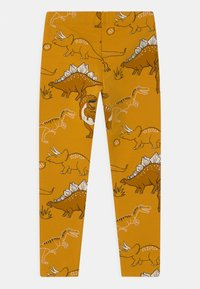 Lindex - MINI DINO UNISEX - Tracksuit bottoms - dark dusty yellow - 1