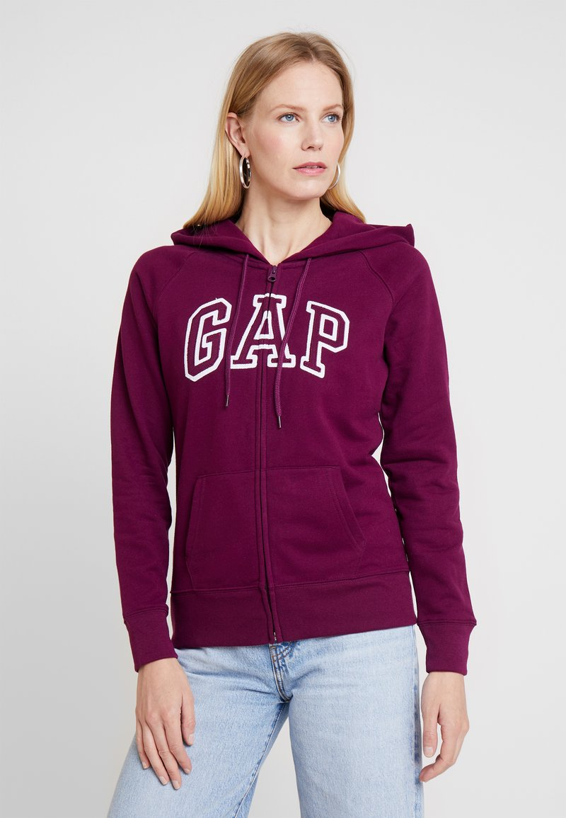 GAP FASH - Sweatjacke - beach plum/dunkelrot 7HO3tf