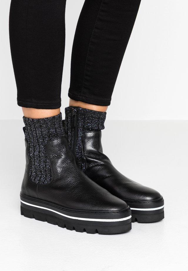 HIIL STREET - Platform ankle boots - black