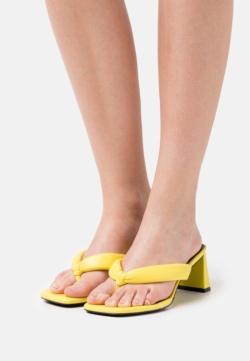 River Island - T-bar sandals - yellow