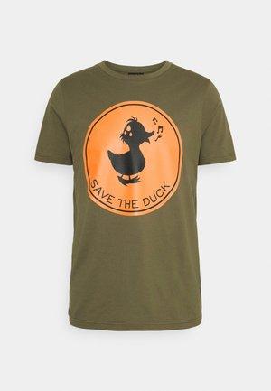 Print T-shirt - base verde