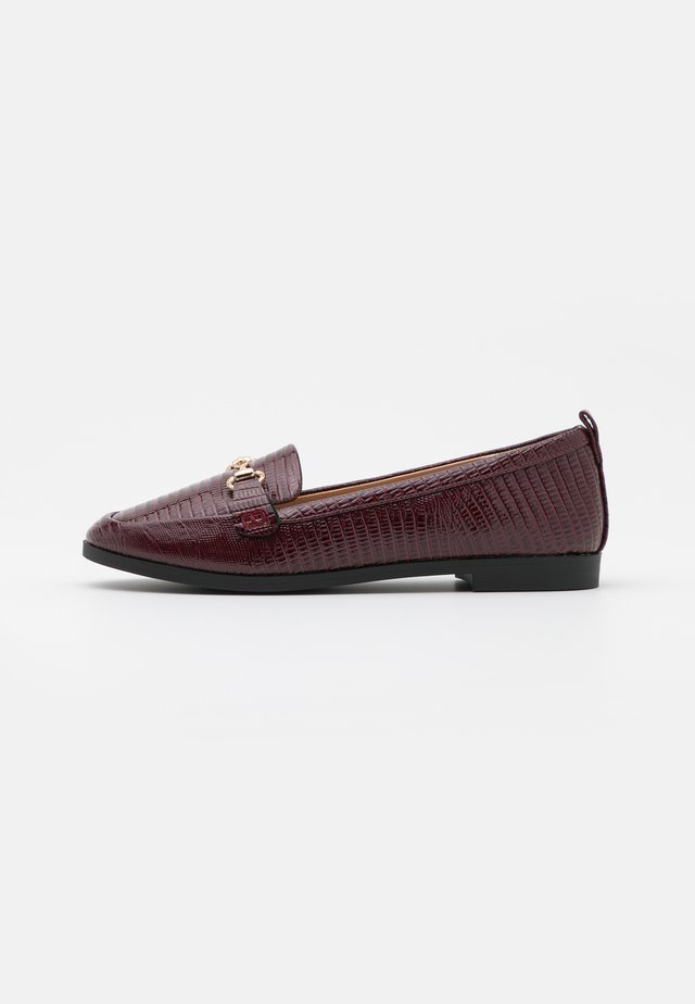 LULA LOAFER LIZARD - Instappers - oxblood