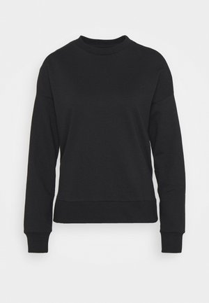 Slit Sides Oversized Sweatshirt - Sweater - black