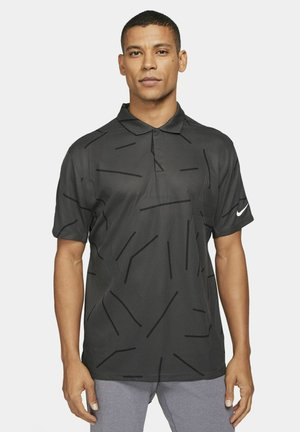 TIGER WOODS DRY COURSE  - T-shirt sportiva - dark smoke grey/black