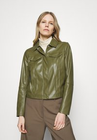 comma - Faux leather jacket - deep green - 0