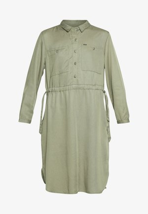 WORKER DRAPEY DRESS - Sukienka koszulowa - olive green