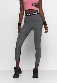 Nike Performance - 365 7/8 HI RISE - Punčochy - black/white - 0