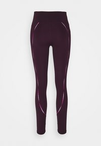 Under Armour - RUSH SCALLOP LEG  - Leggings - polaris purple - 6