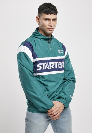 RETRO - Windbreaker - retro green/blue night/white