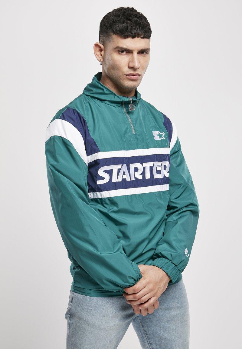 Starter - RETRO - Windbreaker - retro green/blue night/white