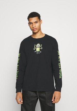 HACK PRINTED LONGSLEEVE UNISEX  - Print T-shirt - black