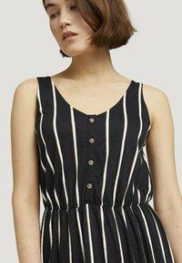 TOM TAILOR DENIM - Maxi dress - black beige vertical stripe - 3