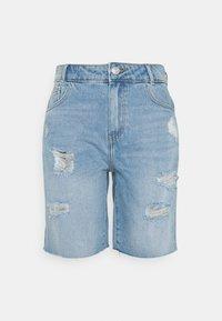 Noisy May - NMLUCKY LONGBOARDER - Shorts di jeans - light blue denim - 0
