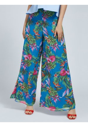 PRINT ALLOVER - Trousers - mehrfarbig, grundton blau
