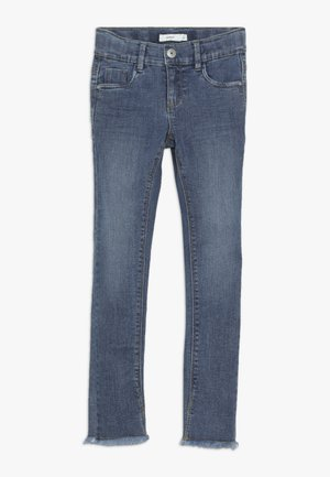 NKFPOLLY DNMTEJA ANCLE PANT - Slim fit jeans - medium blue denim