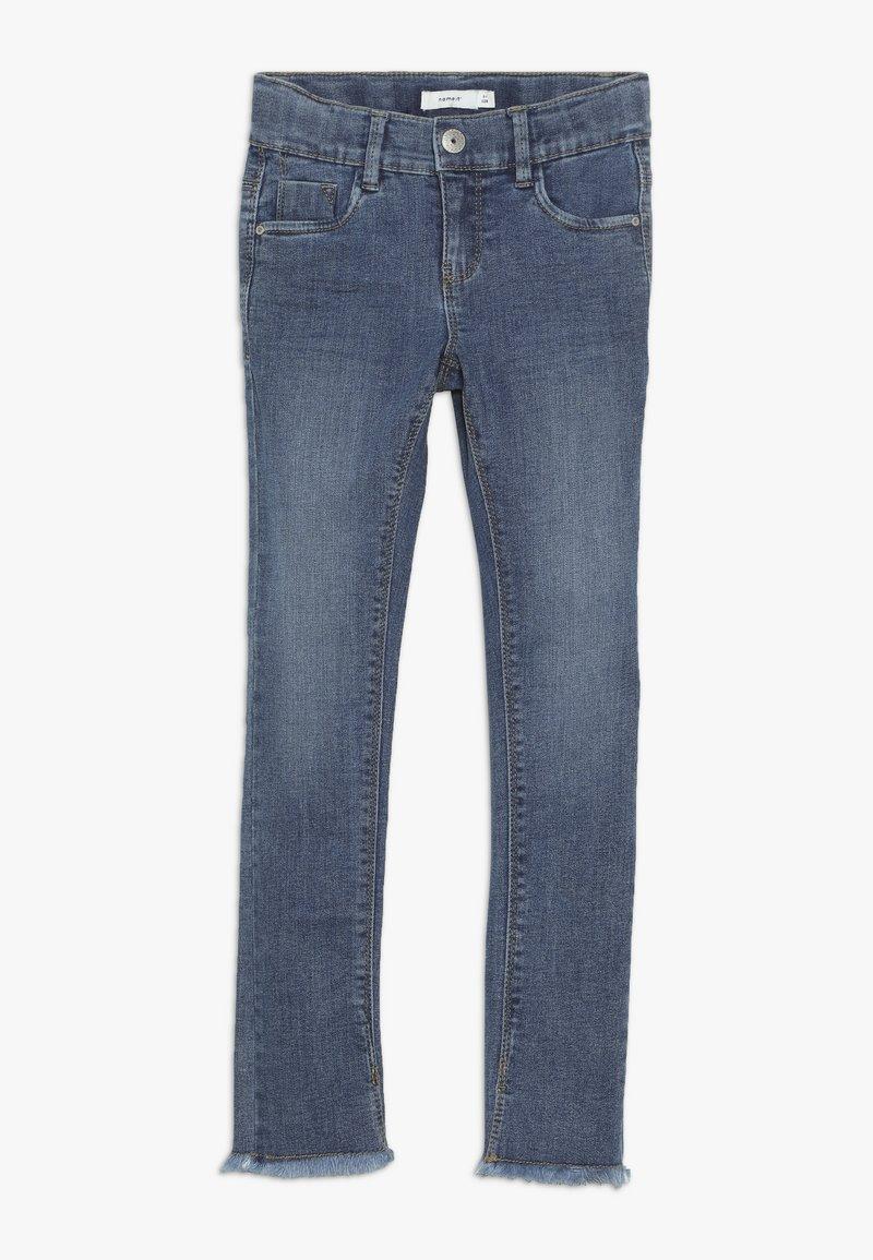 Name it - NKFPOLLY DNMTEJA ANCLE PANT - Slim fit jeans - medium blue denim