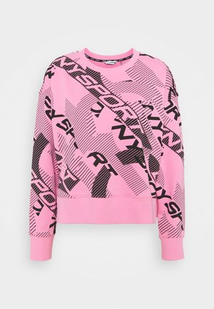LOGO ARCHES PRINT CREWNECK SIDE SLITS - Sweatshirt - bubblegum/black