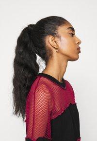 The Ragged Priest - FISHNET SKATER DRESS - Jersey dress - black/red - 5