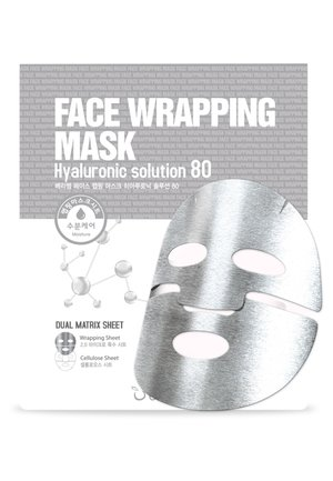 FACE WRAPPING MASK HYALURONIC SOLUTION 80 3 MASKS PACK - Hudplejesæt - -