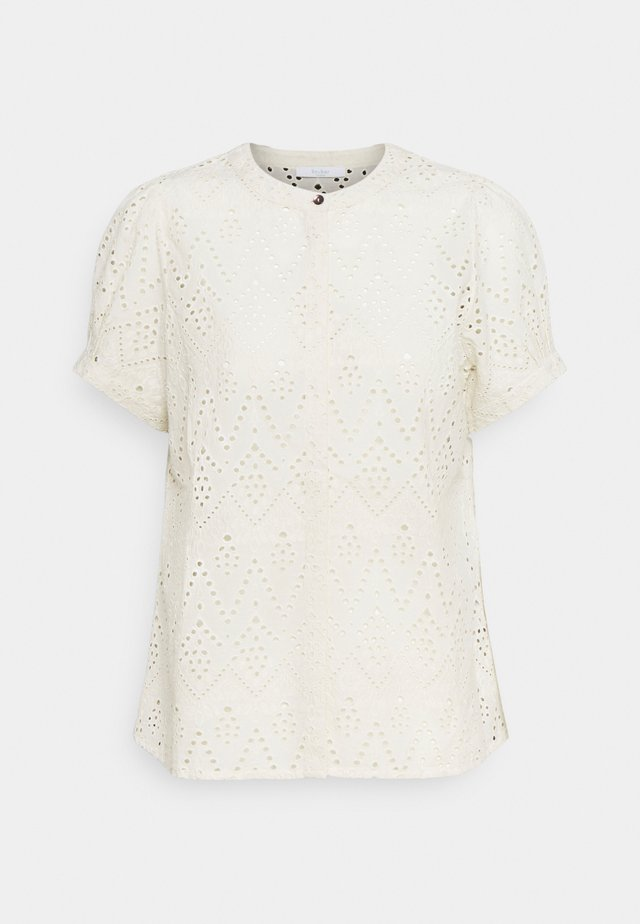 BLOOM EMBROIDERY BLOUSE - T-shirt imprimé - egg shell