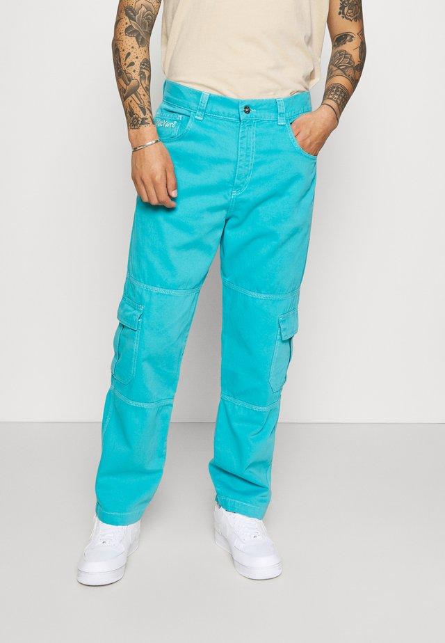 STRAIGHT LEG TROUSER - Cargo trousers - dark aqua