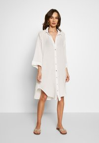 Seafolly - BEACH EDIT OVERSIZE BEACH COVER UP - Complementos de playa - off white - 0